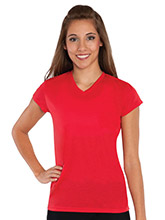 Women's V Neck Lightweight Tee from GK Cheer