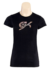 GK All Star Crystal Women's Crew Neck Shirt from GK Cheer