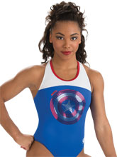 Captain America Shield Leotard from GK Gymnastics