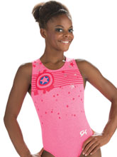 Captain America Star Leotard from GK Gymnastics