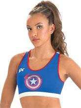 Captain America Shield Bra from GK Gymnastics