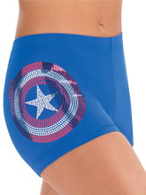 Captain America Shield Shorts from GK Gymnastics