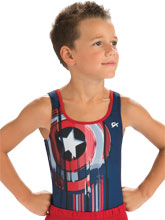 Captain America Competition Shirt from GK Gymnastics