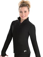 Fitted Brushed Tricot Warm-Up Jacket from GK Gymnastics
