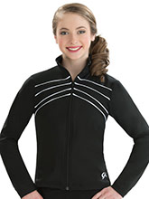 Fitted DryTech Jacket with Piping from GK Gymnastics