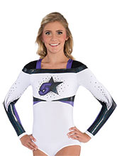 Arch Stripe Square Neck Cheer Leotard from GK Cheer