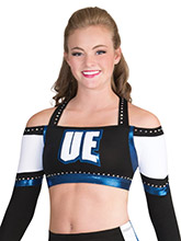 Unique Web Back Crop Top from GK Cheer