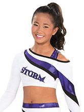Funky Shoulder Crop Top from GK Cheer