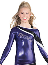 Funky Shoulder Uniform Top from GK Cheer