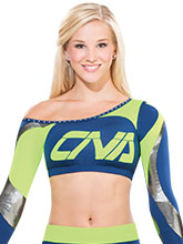 One Shoulder Swirl Crop Top from GK Cheer