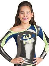 One Shoulder Swirl Uniform Top from GK Cheer