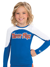 Arc Color Block Cheer Uniform Top from GK Cheer