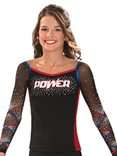 Lattice Sleeve Portrait Neck Uniform Top from GK Cheer