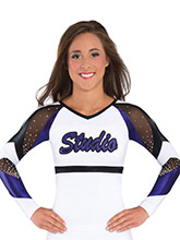 Strappy Circle Back Cheer Uniform Top from GK Cheer