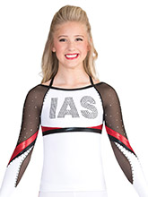 Strappy Duo Stripe Cheer Uniform Top from GK Cheer