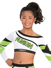 Diagonal Diva Cheer Uniform Crop Top from GK Cheer