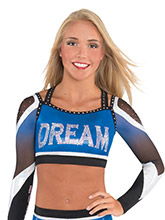 Y-Back Halter Sublimated Crop Top from GK Cheer