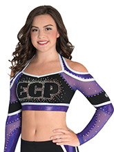 Strappy X Back Halter Cheer Crop Top from GK Cheer