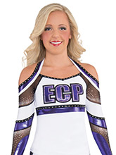 Strappy X Back Halter Uniform Top from GK Cheer
