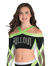 Intertwining X Back Cheer Crop Top from GK Cheer