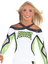 Intertwining X Back Cheer Uniform Top from GK Cheer