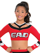 Faux Wide Neck Bound Crop Top from GK Cheer