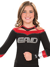 Faux Wide Neck Bound Uniform Top from GK Cheer