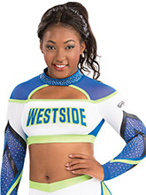 High Neck Intensity Crop Top from GK Cheer