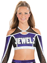 Modern Keyhole Racerback Crop Top From GK Cheer