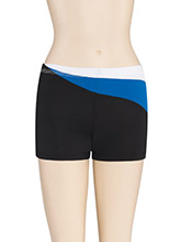 LR Asym Swirl Cheer Shorts from GK Cheer