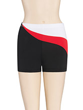 Asym Swirl Cheer Shorts from GK Cheer