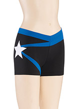 LR V Star Cheer Shorts from GK Cheer