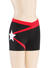 V Waist Star Cheer Shorts from GK Cheer