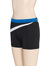Low Rise Diagonal Wave Cheer Shorts from GK Cheer
