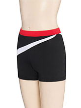 Regular Rise Diagonal Wave Shorts from GK Cheer