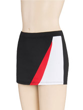 Regular Rise Curve Accent Cheer Skort From GK Cheer