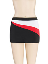 Asym Waist Swirl Skirt from GK Cheer