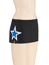 Low Rise Side Star Cheer Skirt from GK Cheer