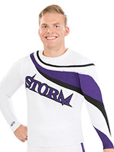 Funky Shoulder Men's Top from GK Cheer
