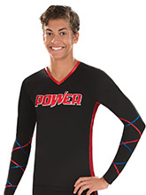Lattice Sleeve V-neck Men's Cheer Top from GK Cheer