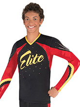 Inverted V Back Men's Cheer Top from GK Cheer