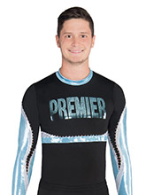 Interlocking Wave Men's Cheer Uniform Top from GK Cheer